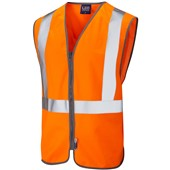 Leo Textiles Eggesford High Visibility Railway Zip Waistcoat GORT Orange